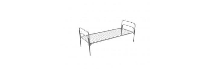 Кровать металлическая пружинная одноярусная армейского типа