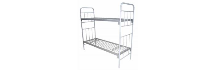 Металлическая армейская кровать двухъярусная
